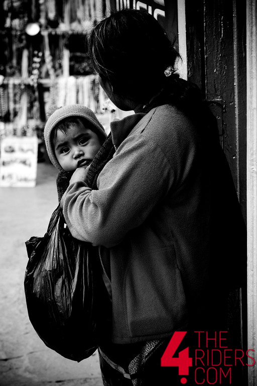 woman baby poor black and white mexico