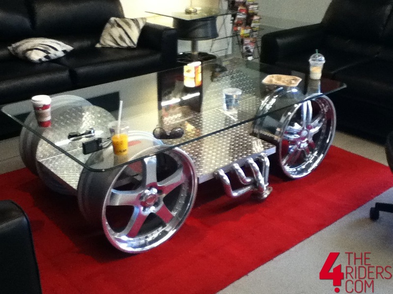 engine table with sweet rims